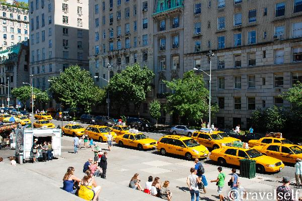 Yellow New York taxi foto